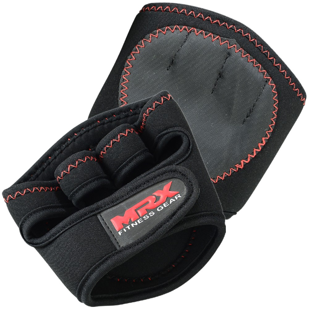 MRX POWER WEIGHT LIFTING GRIP PADS BLACK & RED
