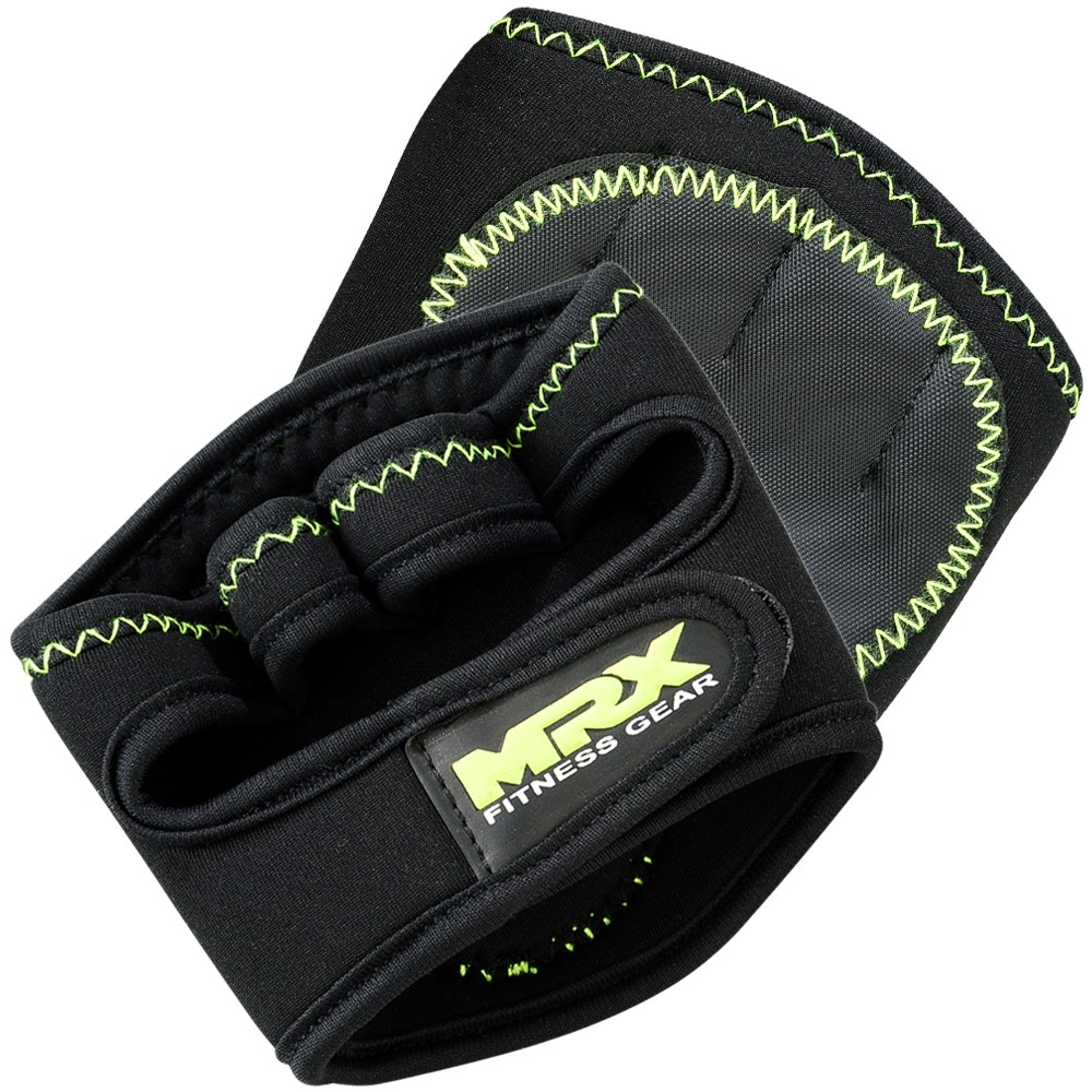 POWER WEIGHT LIFTING GRIP PADS BLACK / GREEN