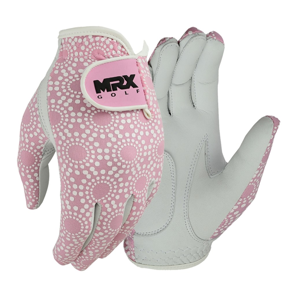 New Women Golf Gloves Cabretta Leather PINK