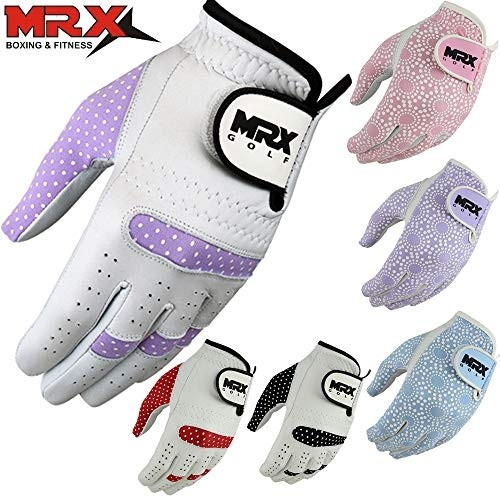 MRX Women's Golf Gloves Left Hand Cabretta Leather Golfer Glove