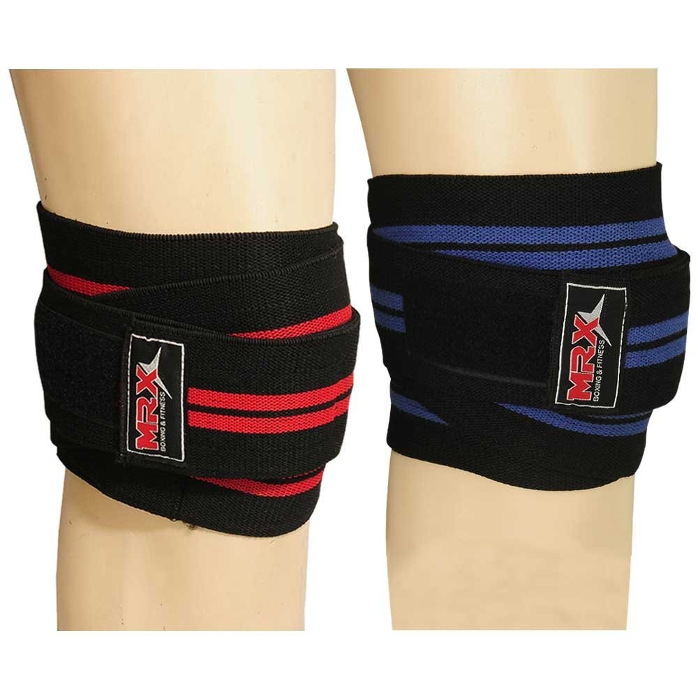 MRX Weight Lifting Knee Wraps Bodybuilding GYM Workout Lifting Wrap