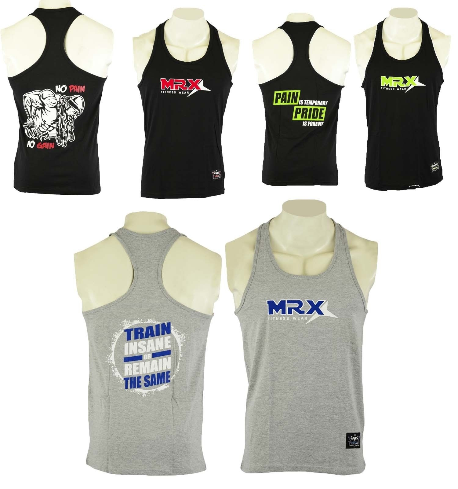 MRX Men's Tank Tops Sports Bodybuilding Workout Fitness Gym Men Wear