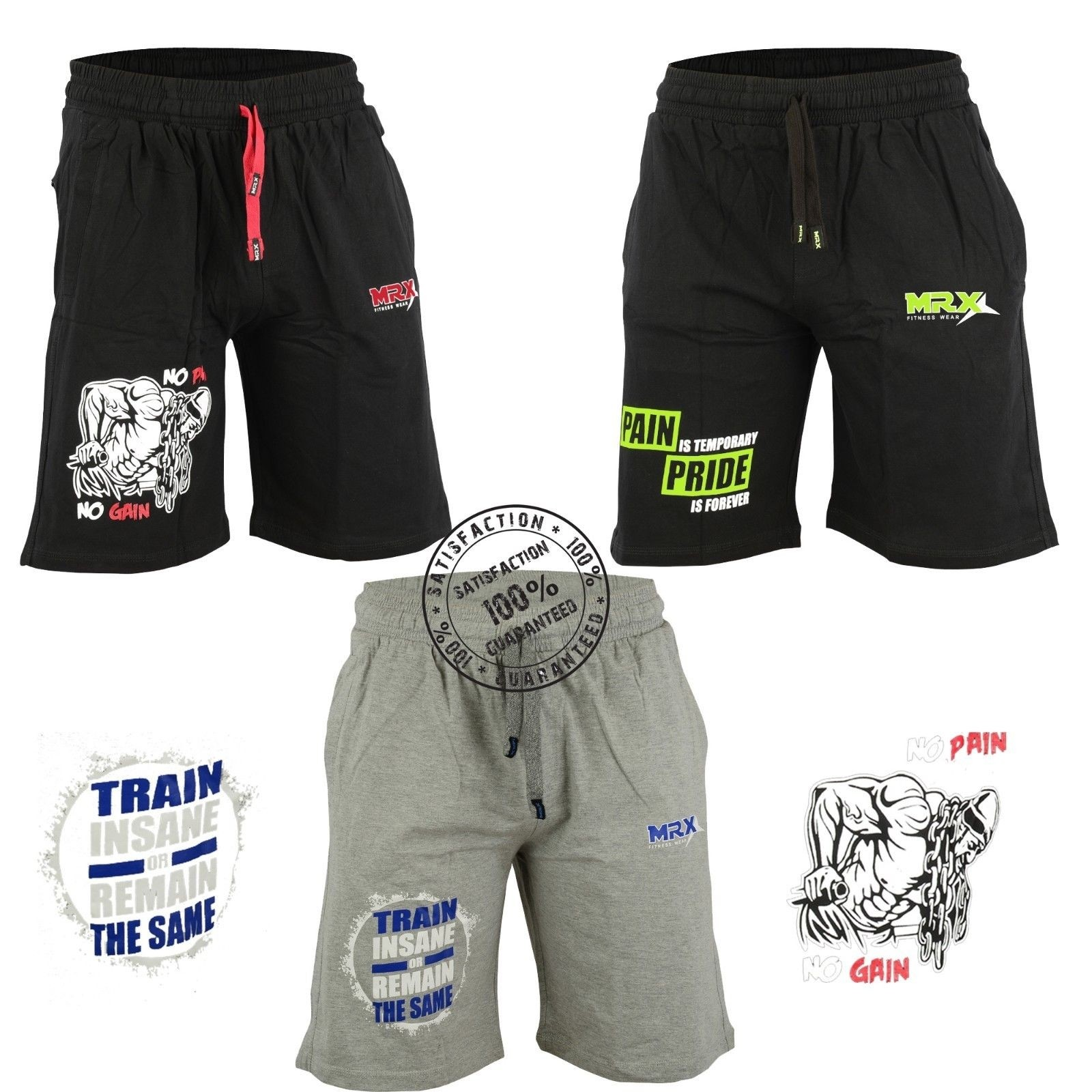 workout shorts gray front 7300