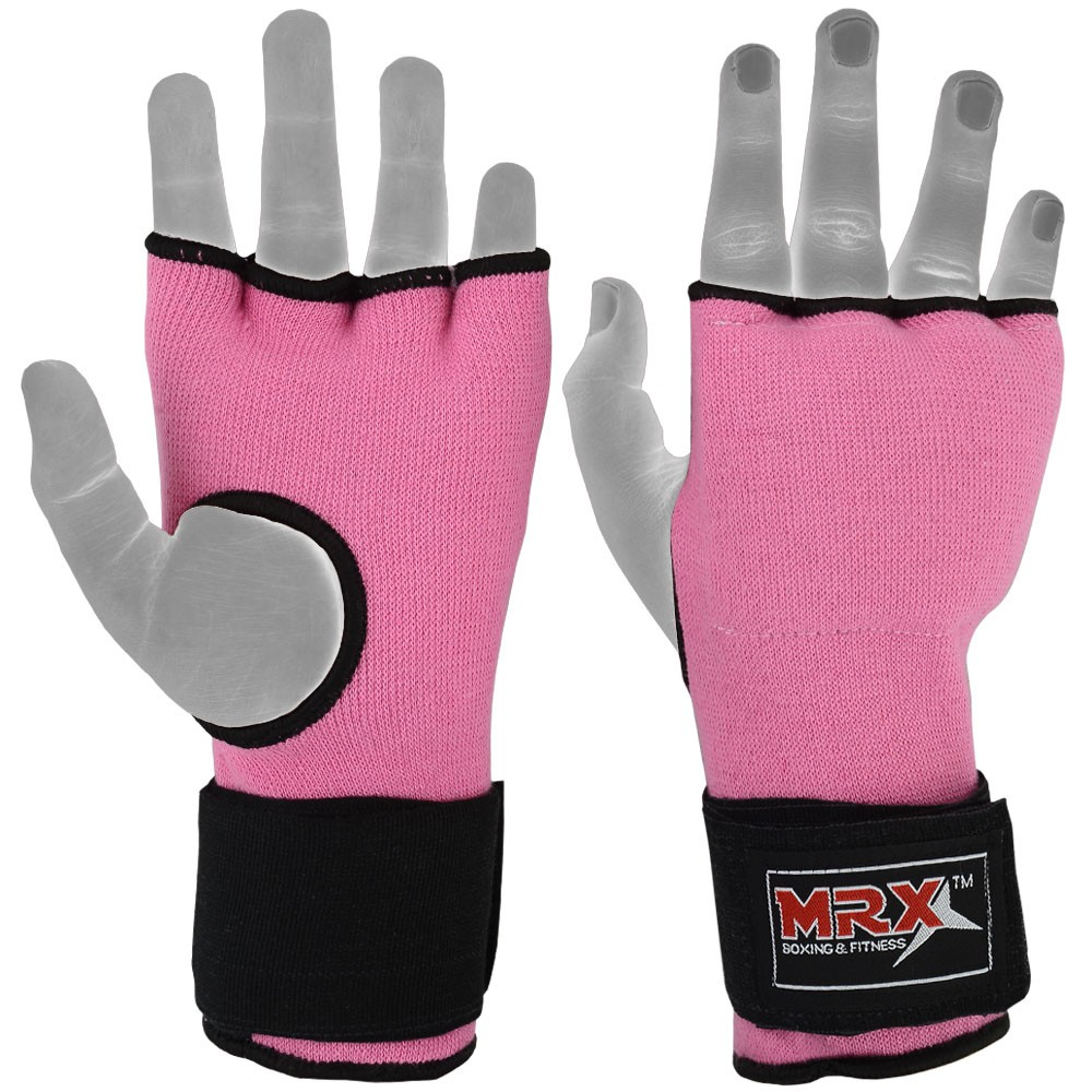 MRX INNER SUPPORT GLOVES WITH WRAPS PINK
