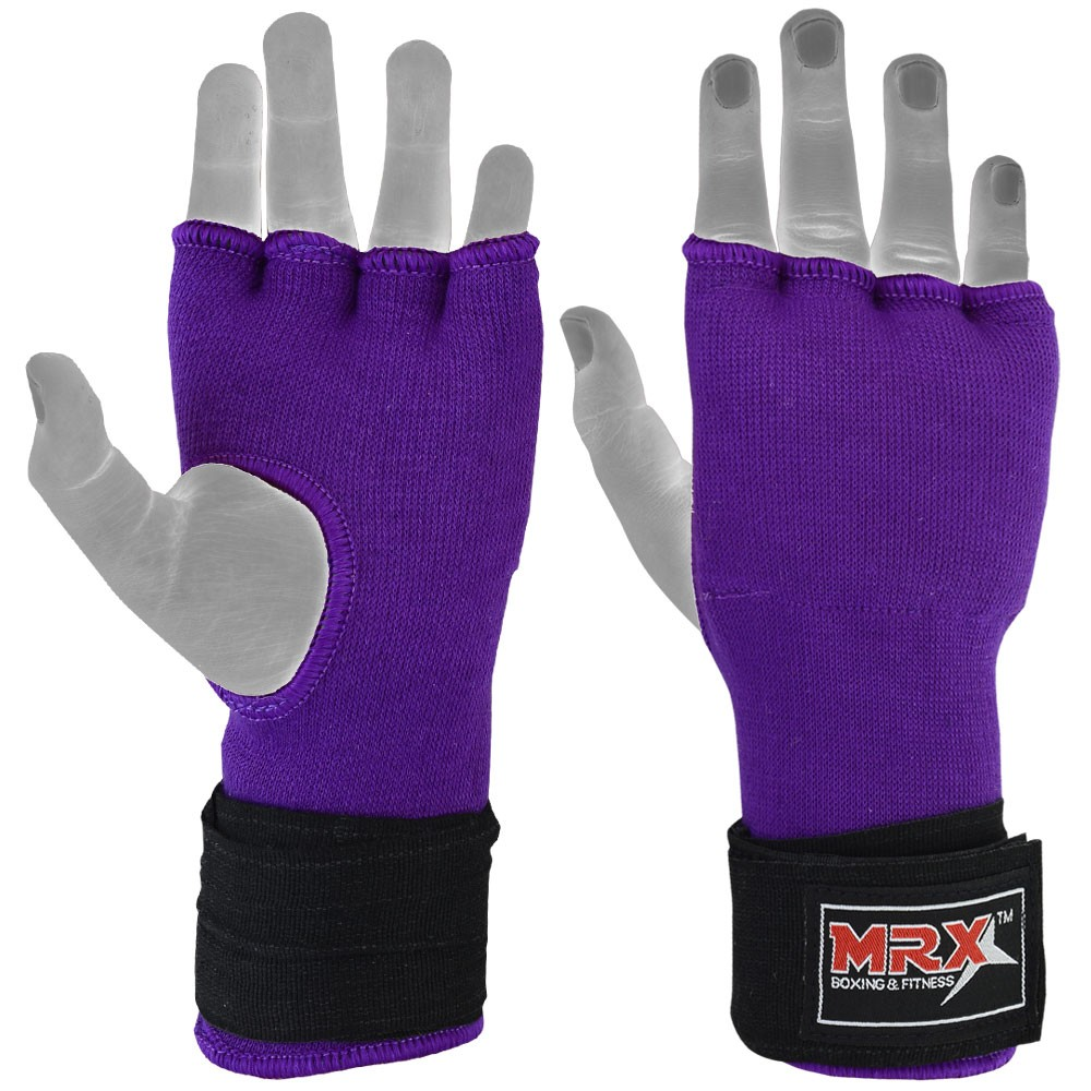 inner gloves with wraps photo purple black 1