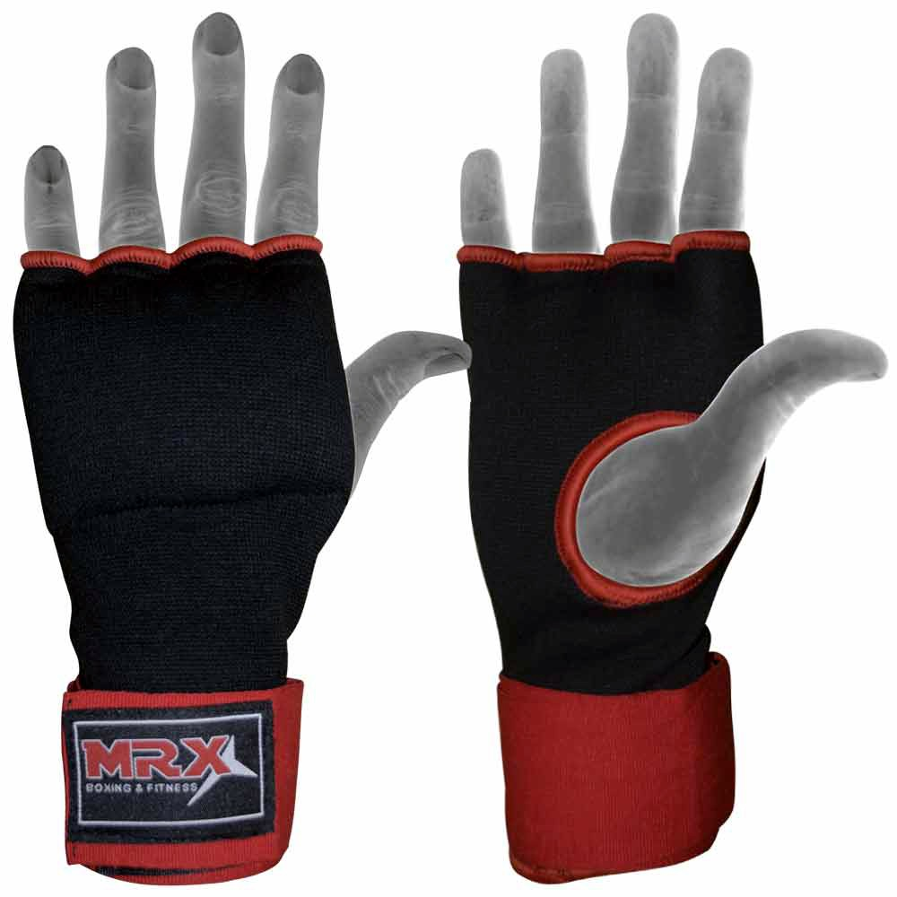 inner gel wrap gloves black color full photo view
