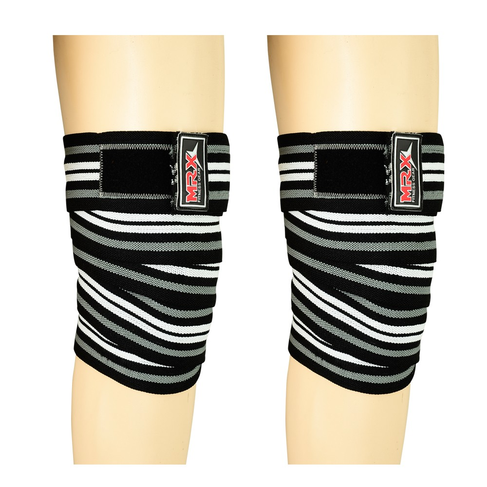 knee support wraps black gray white1