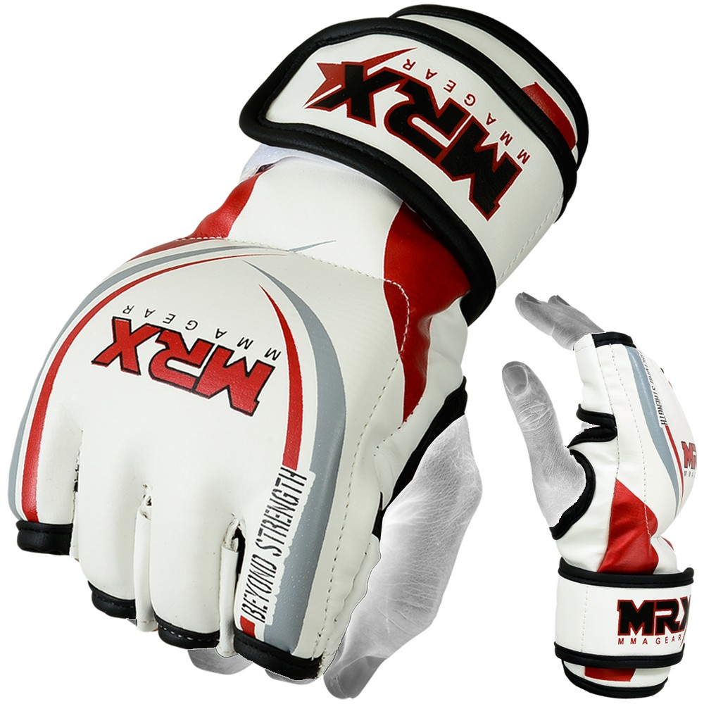 MRX MMA GRAPPLING GLOVES WHITE RED