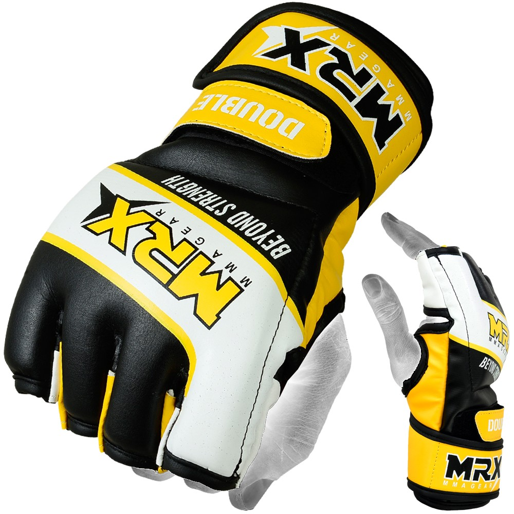 MMA Glove yellow black full photo