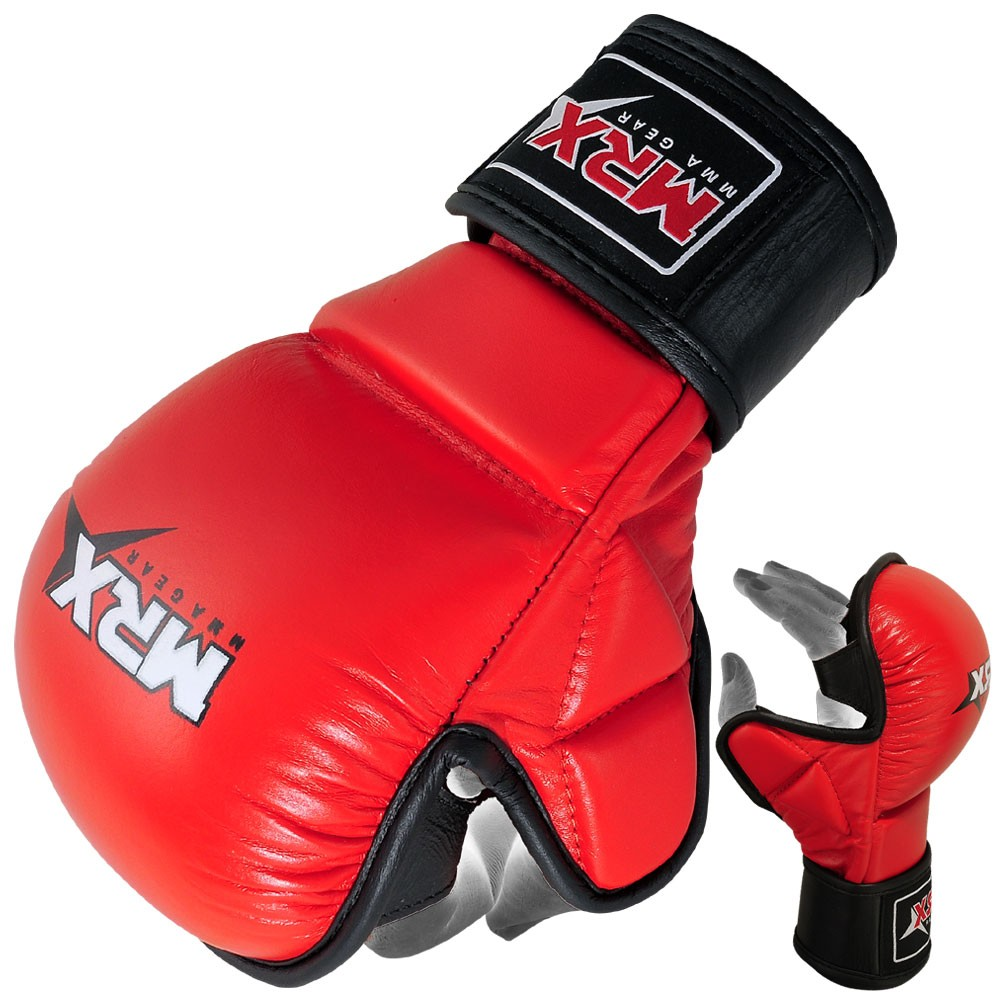 MMA SPARRING GLOVES BLACK RED