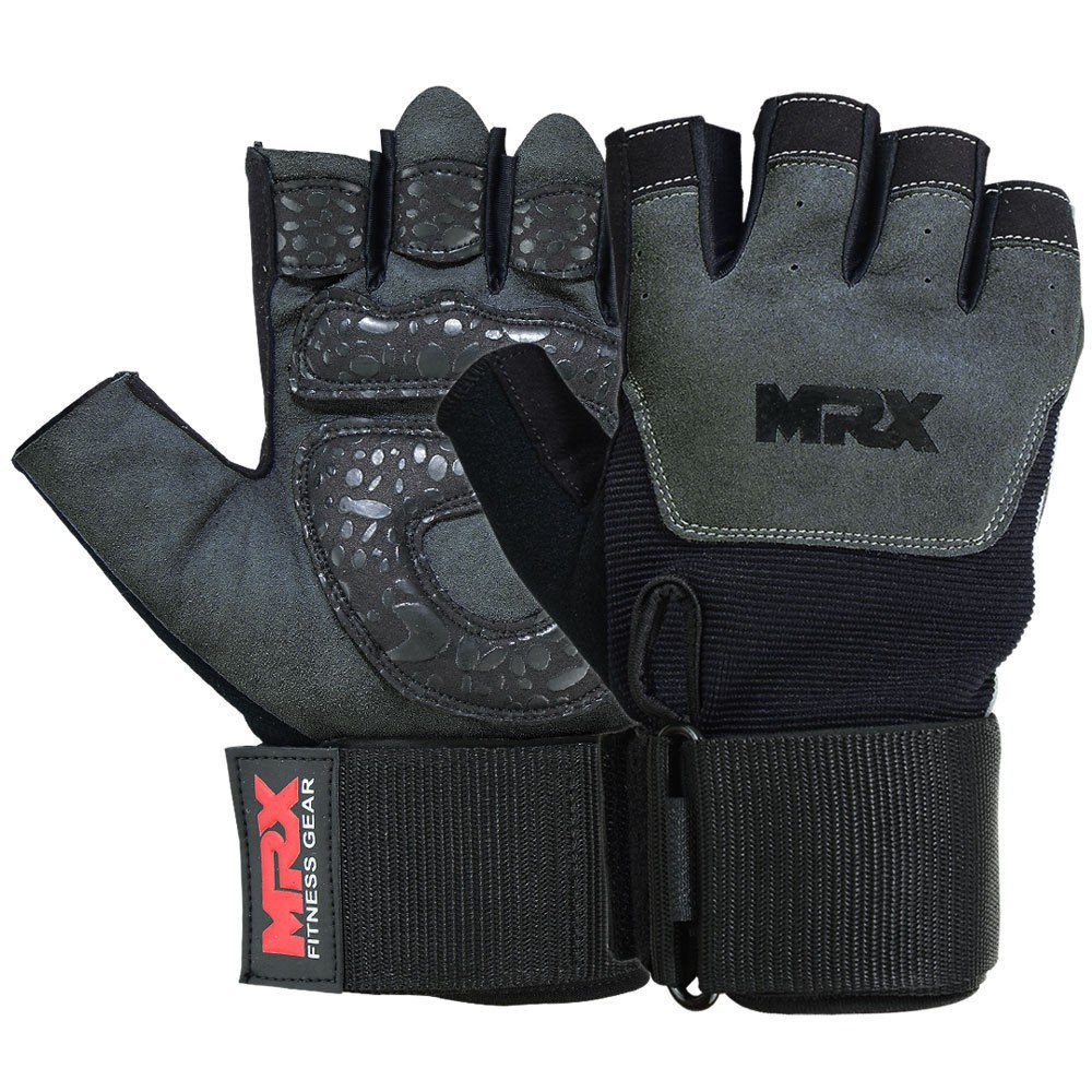 weight lifting gloves amara leather front back view