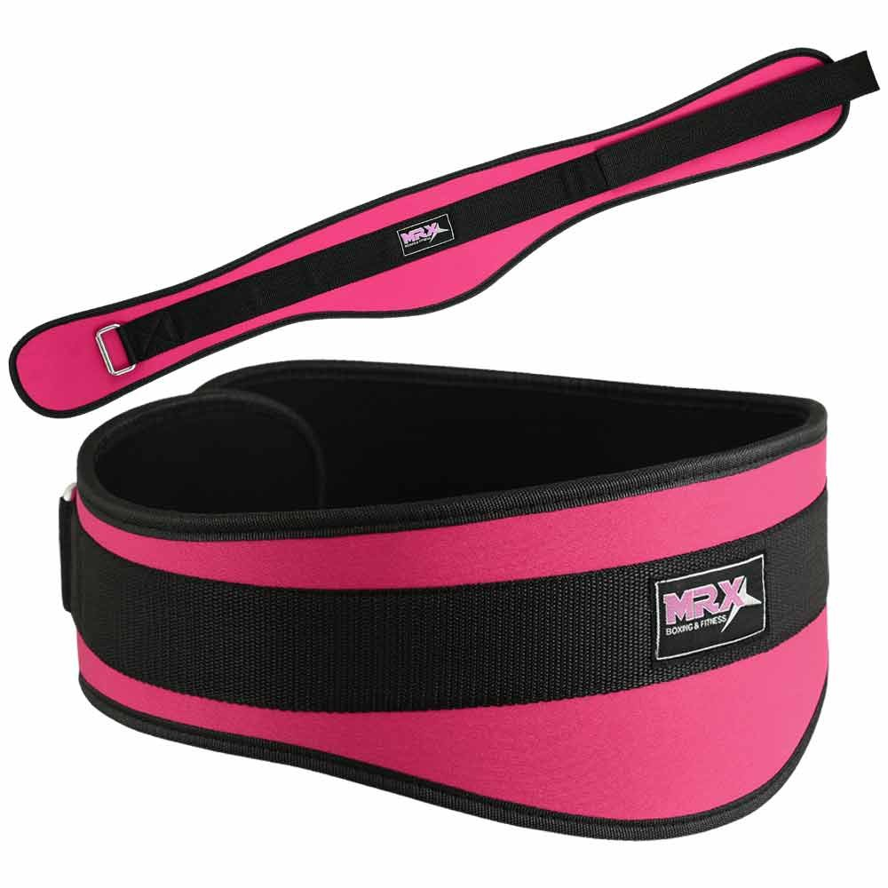 "MRX Women's Weight Lifting Belt For GYM Workout 6"" Wide Hot Pink XS"