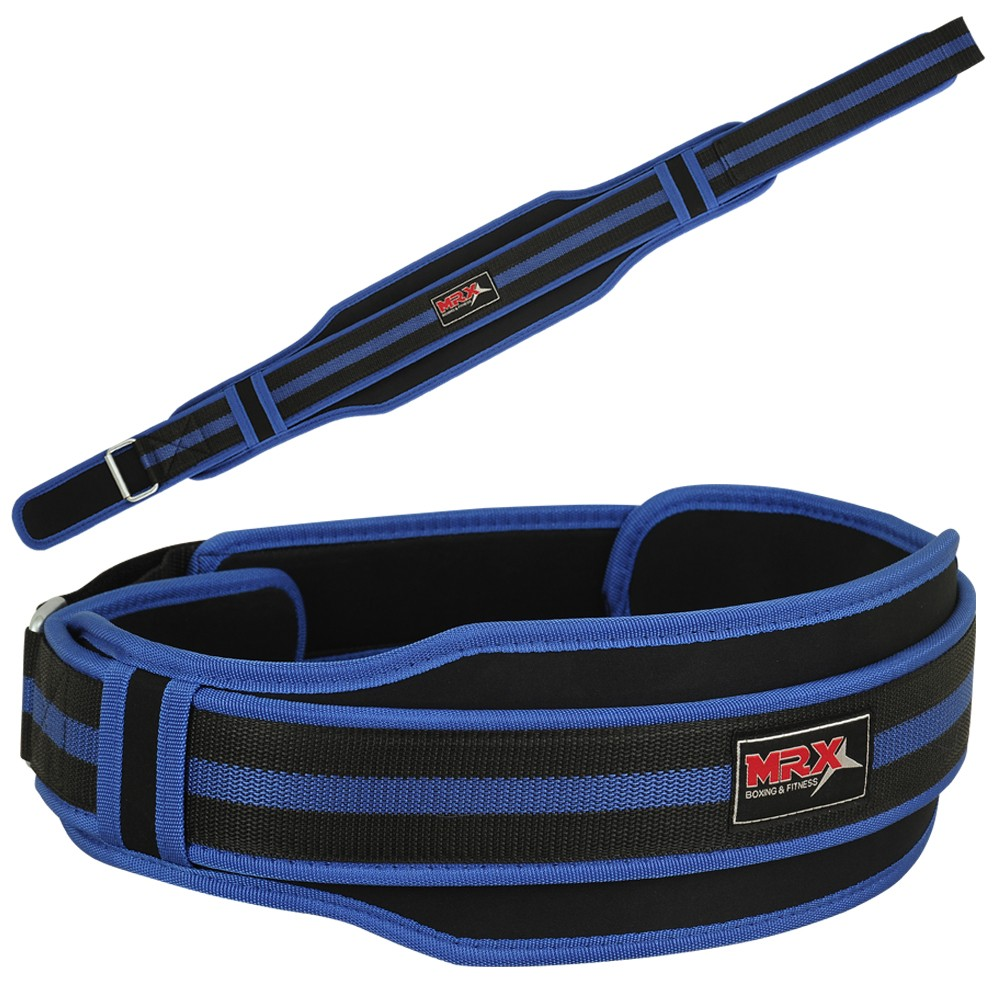 weight lifting neoprene belt blue-1