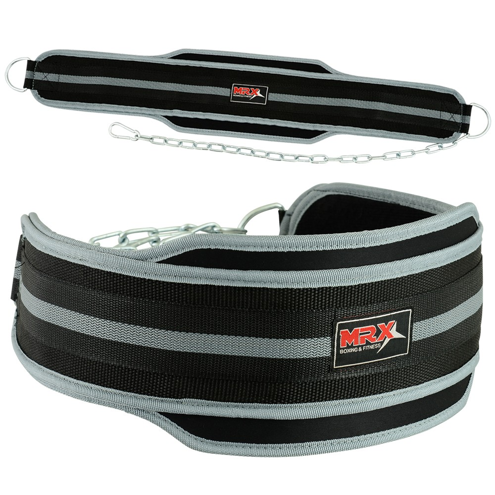 MRX DIPPING BELT WEGHT LIFTING BELTS GRAY