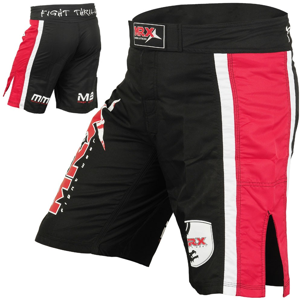 MMA GRAPPLING FIGHT SHORTS MEGA SERIES BLACK RED
