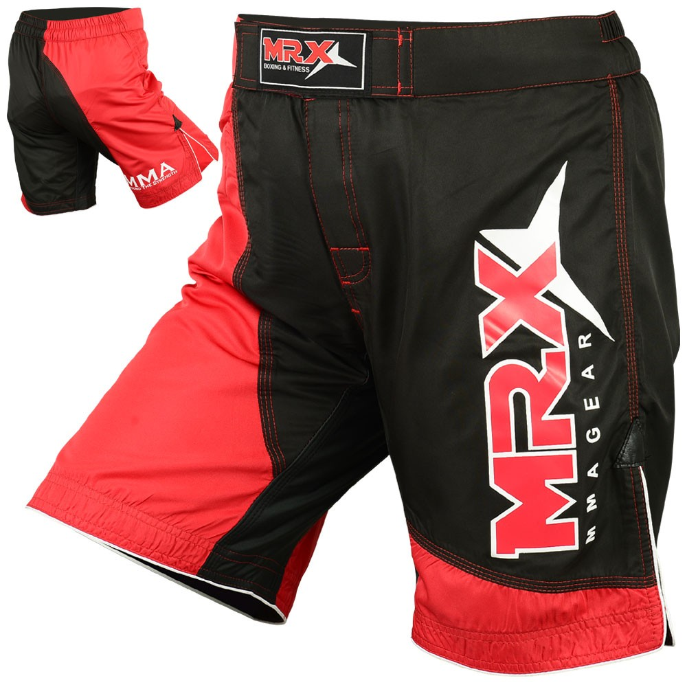 MRX MMA FIGHTING SHORTS BLACK RED
