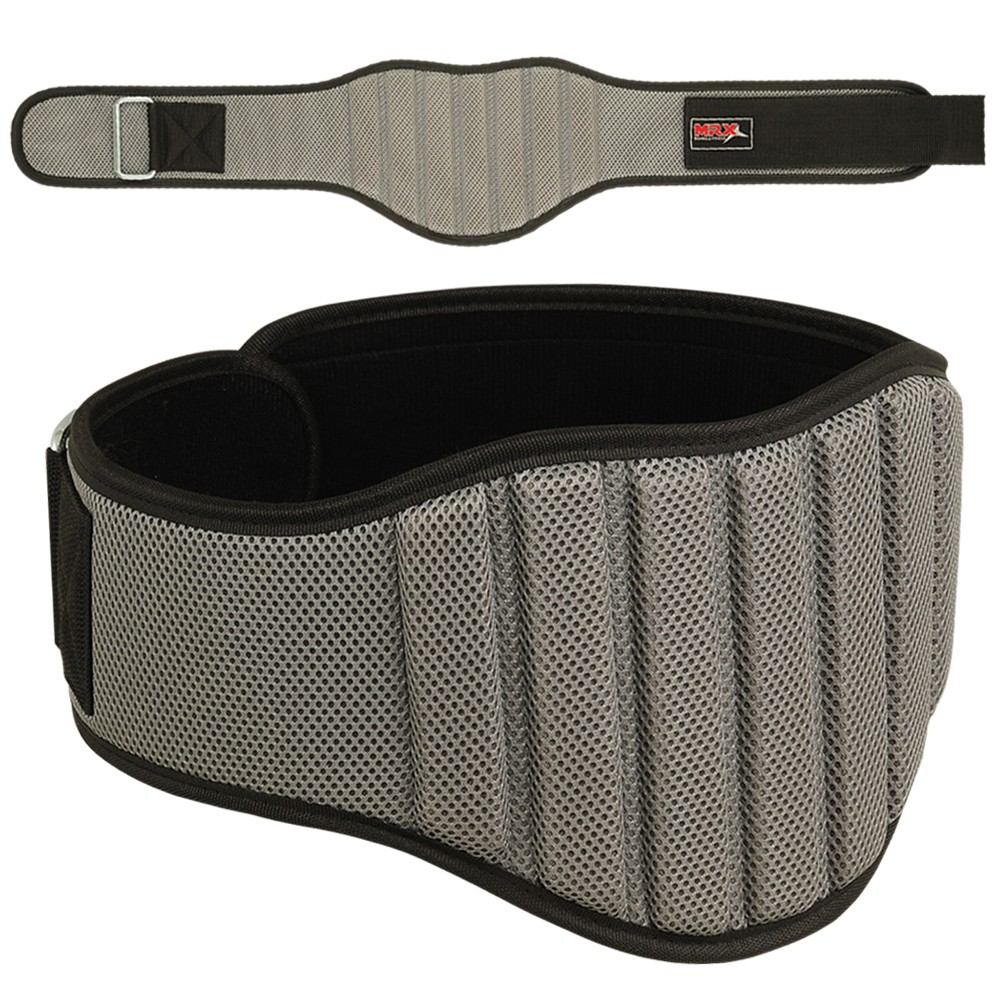 "MRX Weight Lifting GYM Belt 8"" Wide Gray Small"