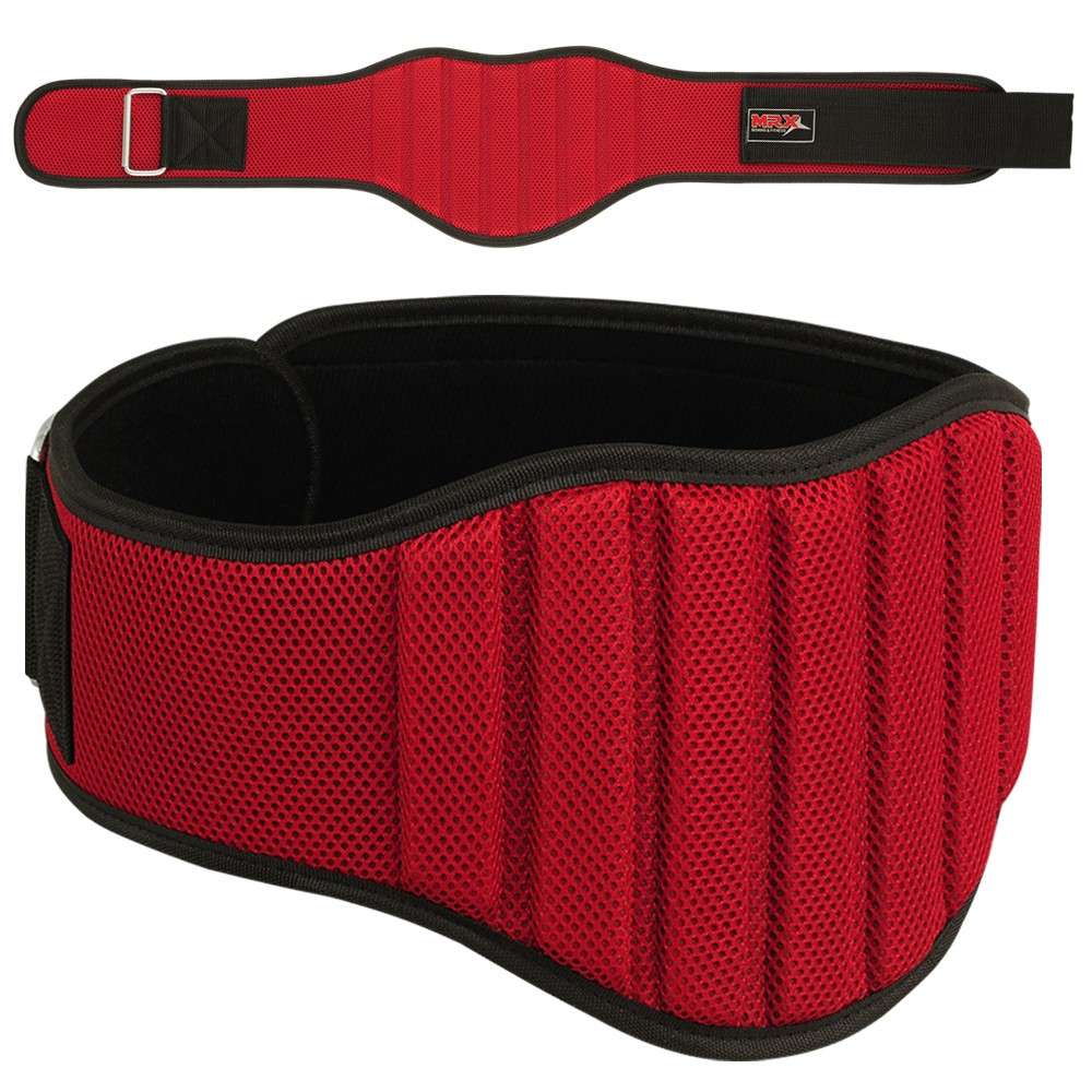 "MRX Weight Lifting GYM Belt 8"" Wide Red Small"