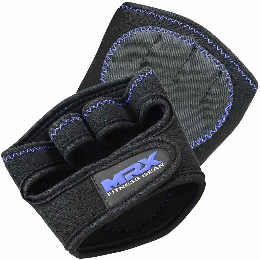 MRX WEIGHT LIFTING GRIP PADS BLACK & BLUE