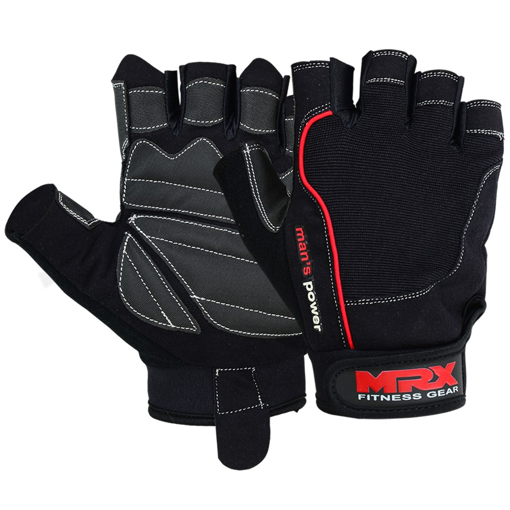 MRX MEN WEIGHT LIFTING GLOVE FITNESS GLOVES