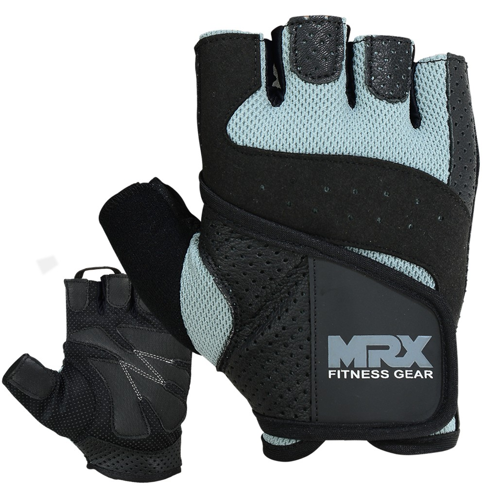 MRX MEN WEIGHT LIFTING GLOVE COWHIDE LEATHER