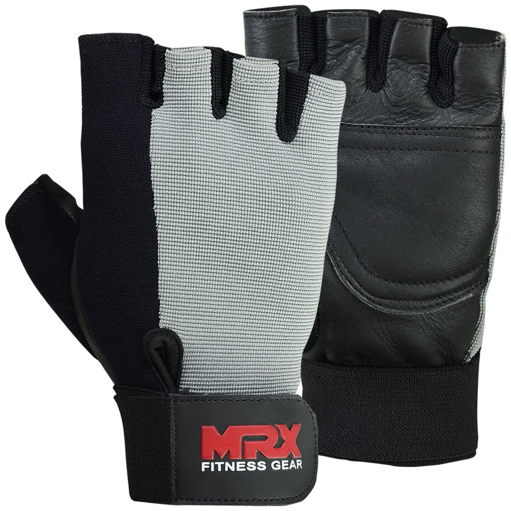 MRX Men Weight Lifting Gloves Grey Black